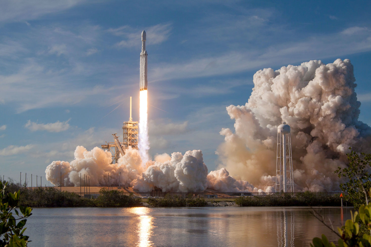 A SpaceX rocket launching at Cape Canaveral FL